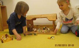 Thema Bauernhof in der Kleinkindgruppe