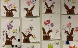Kreatives in der lila Gruppe